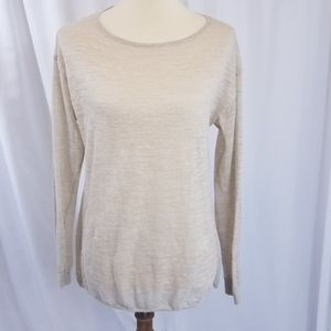 Vineyard Vines heathered tan linen sweater